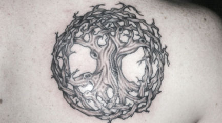 Celtic tree of life shoulder tattoo