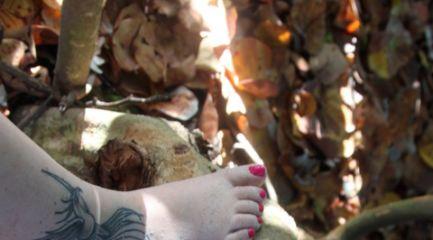 Girls ankle phoenix tattoo in black
