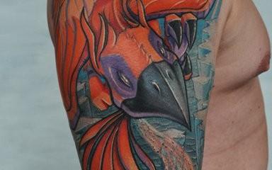 Guys crazy phoenix half sleeve