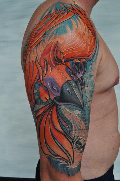 Half sleeve tattoos archives tattoou for Phoenix tattoo half sleeve