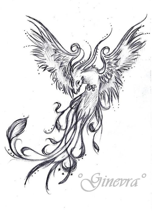 phoenix rising tattoo design. Black Bedroom Furniture Sets. Home Design Ideas
