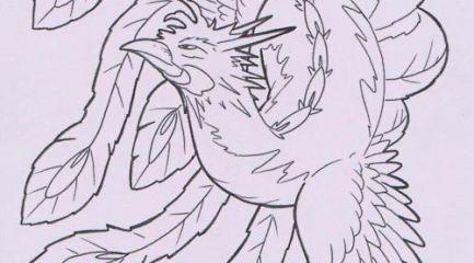 Traditional Japanese phoenix design