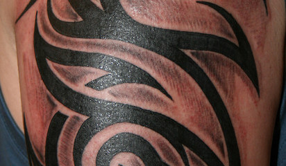 Tribal Celtic half sleeve tattoo