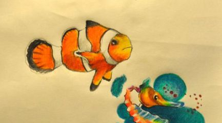Angel fish clown fish and seahorse designs
