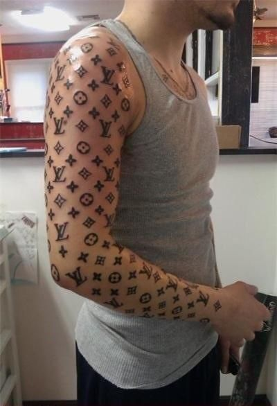 Fresh Louis Vuitton full sleeve tattoo