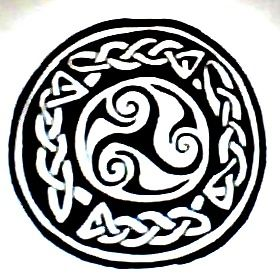Celtic trinity and knots circle tattoo design