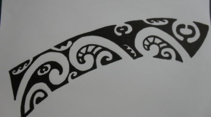 Polynesian band tattoo design