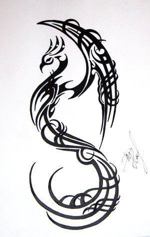Tribal phoenix design looks like dragon
